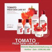 bo-duong-cham-soc-da-chiet-xuat-ca-chua-Foodaholic-Tomato-Fresh Skin-Care-Set-han-quoc