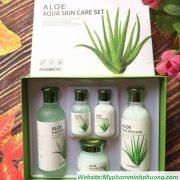 bo-duong-lo-hoi-Aloe-Aqua Skin-Care-Set-han-quoc-5in1