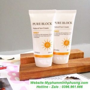 kem-chong-nang-apieu-pure-block-natural-daily-waterproof-sun-cream