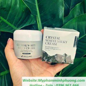 kem-duong-trang-da-3w-clinic-crystal-white-milky-cream-50ml