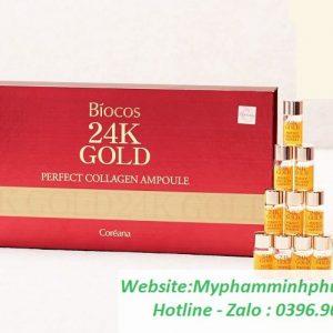 sirum-BIOCOS-24K -GOLD-PERFECT-COLLAGEN-AMPOULE-han-quoc