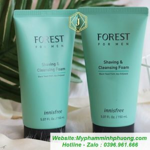 Sua-rua-mat-cho-nam-forest-for-men-shaving-cleansing-foam-innisfree-659x659